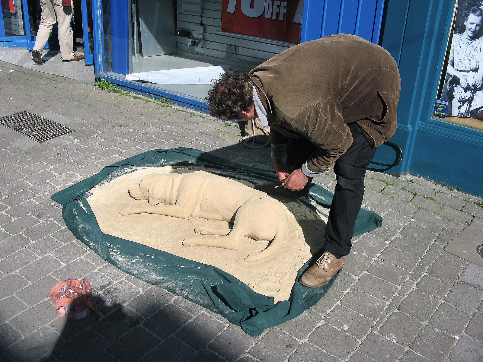 umělec v Galway