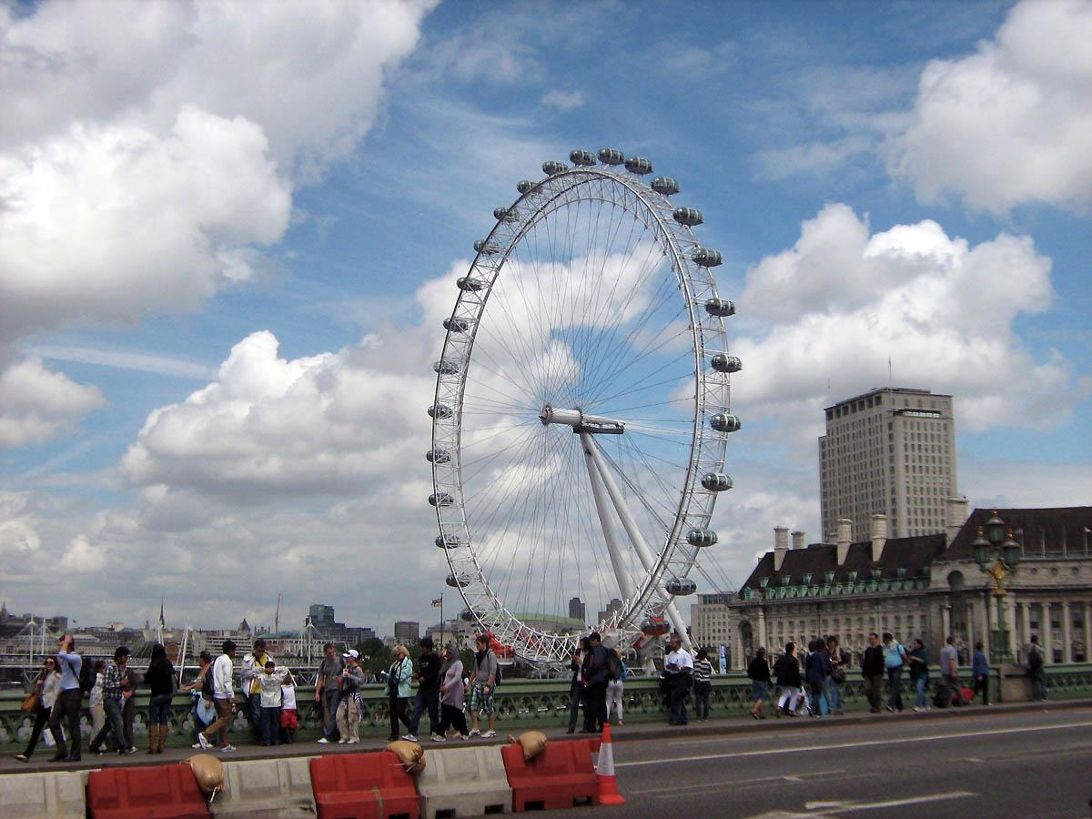 pohled na London Eye