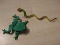 žabka a had - obtížnost vhodná pro zkušené origamisty