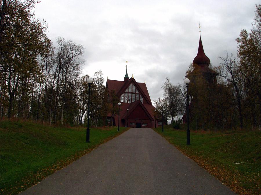 novogotický kostel v Kiruně