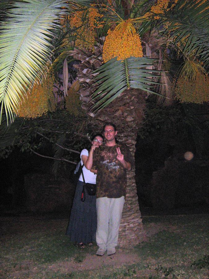 bratr se švagrovou v palmovém parku