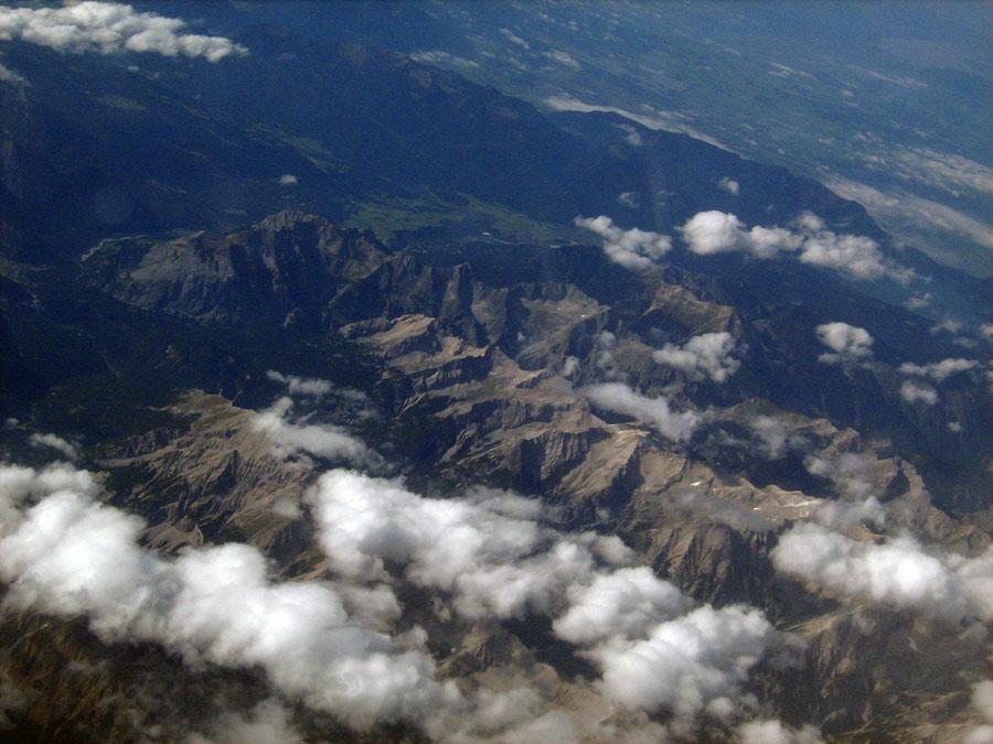Alpy ze vzduchu
