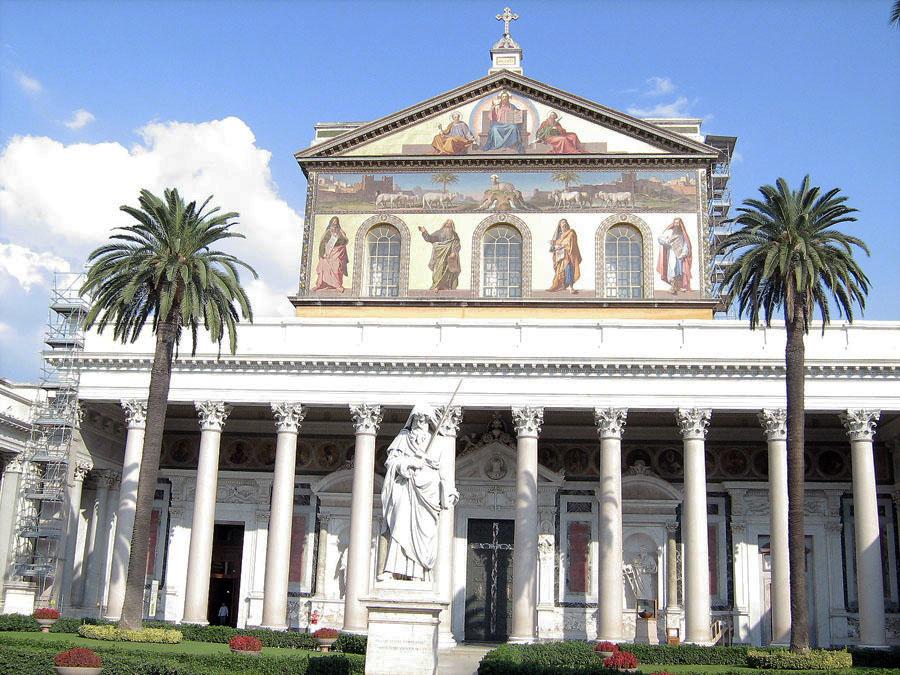zahradní komplex v bazilice Svatého Pavla