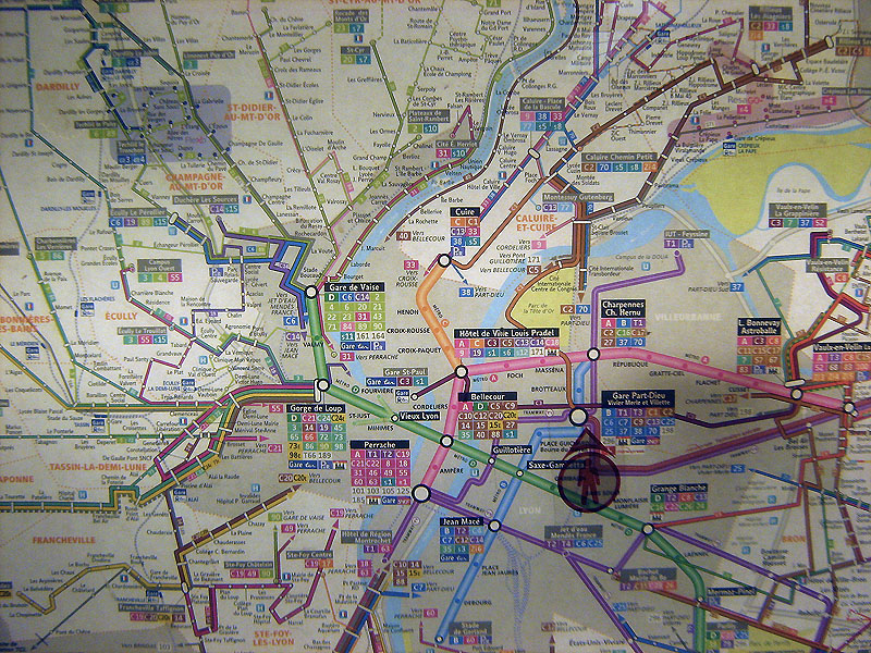 metro v Lyonu