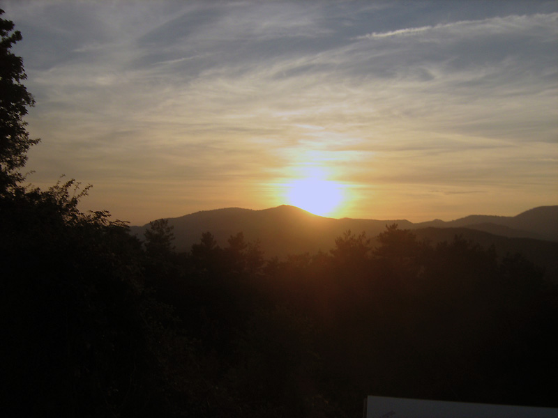 západ slunce před Zubiri
