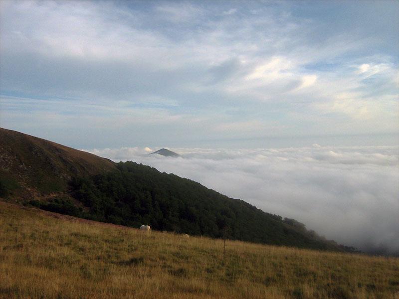 ranní pohled na Pyreneje