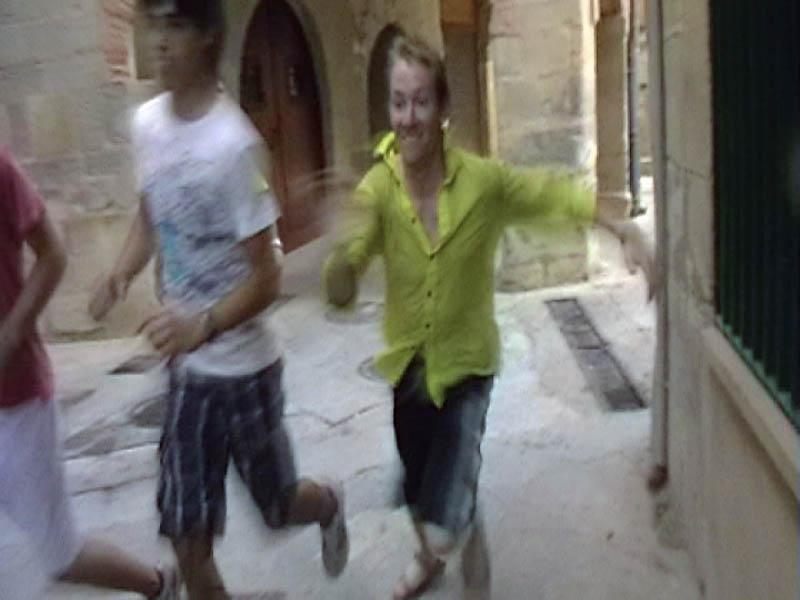 utíkající Pavel